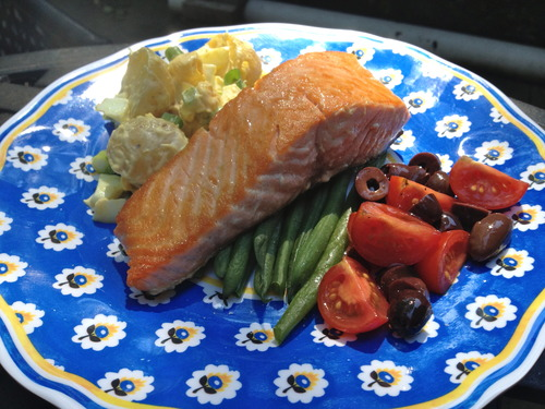 Pan-Roasted Salmon Nicoise
