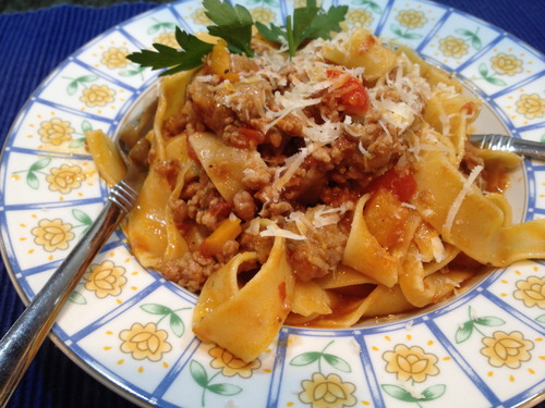 Spicy Italian Sausage Bolognese